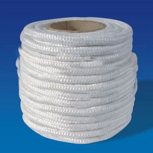 Braided Packing For Pumps , Industrial Gland packing High Temperature Resistance Ceramic